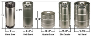 keg dimensions