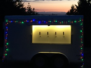 Multicolor lights on the trailer